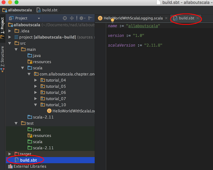 intellij import dependencies build sbt