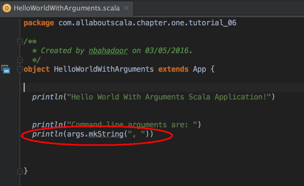 IntelliJ Run Configuration - Running Your Scala application
