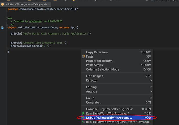 IntelliJ Debug Configuration - Debugging Your Scala Application