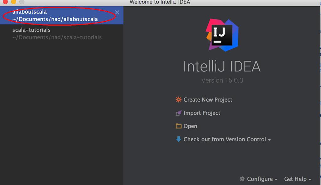 IntelliJ IDEA Open Project