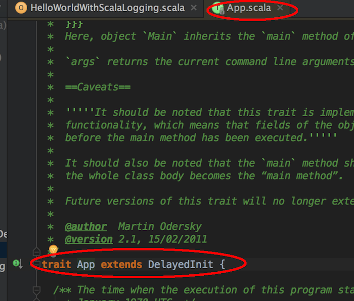 scala app trait