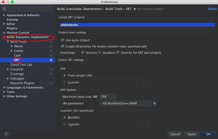 intellij settings preferences build dialog